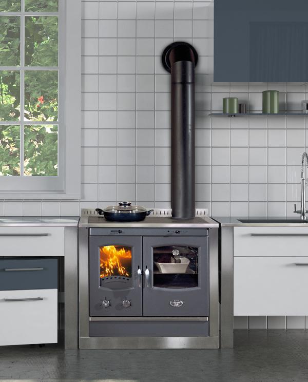 Borea inox incasso stufe cola cucina a legna la bottega del fuoco sede unica di ceriale - Stufe a legna cucina ...