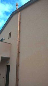 Canna fumaria in rame realizzata a Loano - La Bottega del Fuoco