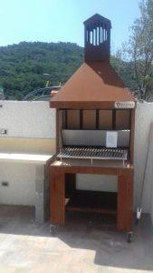 Ceriale Barbecue acciaio corten