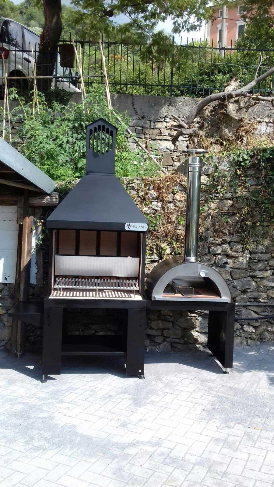 Excellent barbecue e forno a legna installati a pochi - Camino portatile ...