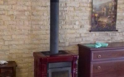 Nuovo impianto termocamino a pellet