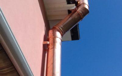 Canna fumaria coibentata in rame parete doppia esterna