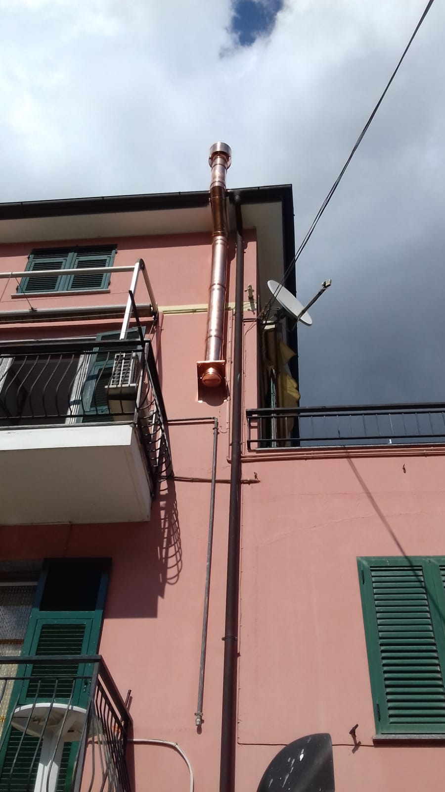Consigli Acquisto Forni : Canna fumaria coibentata in rame parete doppia esterna