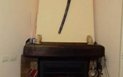 Inserto a pellet Bronpi su vecchio camino a legna