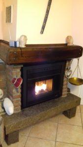 Installazione su vecchio camino a legna di inserto a pellet modello Bronpi - Vado Ligure