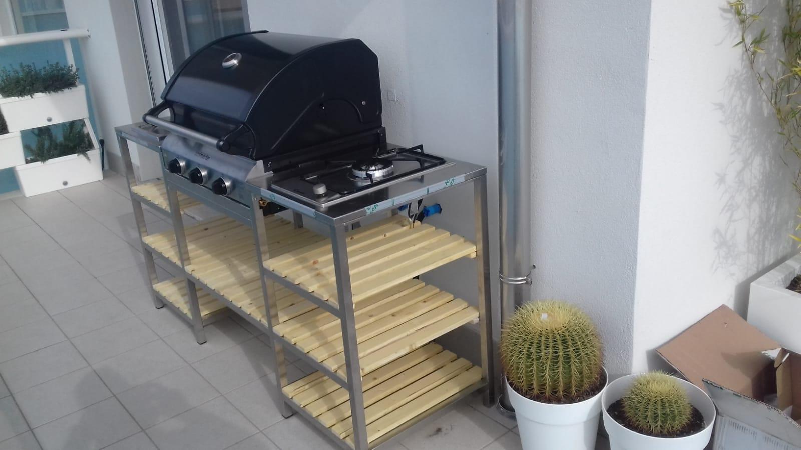 Cucine Da Esterno Con Barbecue : Cucina modulare da esterno con barbecue la bottega del fuoco ceriale